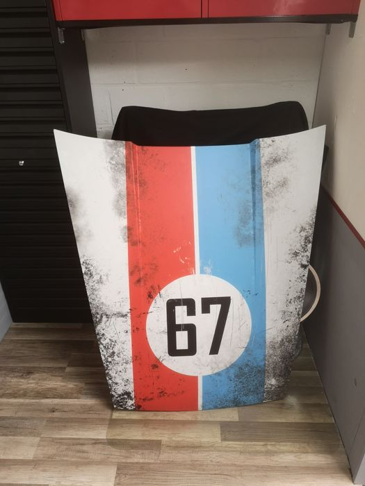 Decorative object - Porsche 911 aged Brumos front hood - 1985 (1 items)