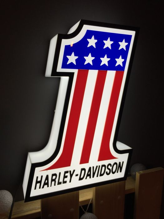 Decorative object - XXL and rare Harley Davidson decorative collector lamp lightbox - 2016-2017 (1 items)