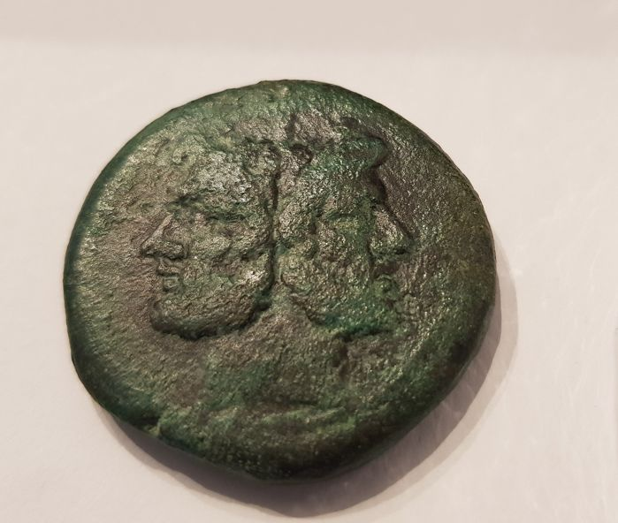 Repubblica romana - Anonymous, AE As, Rome, c. 206-190 BC.