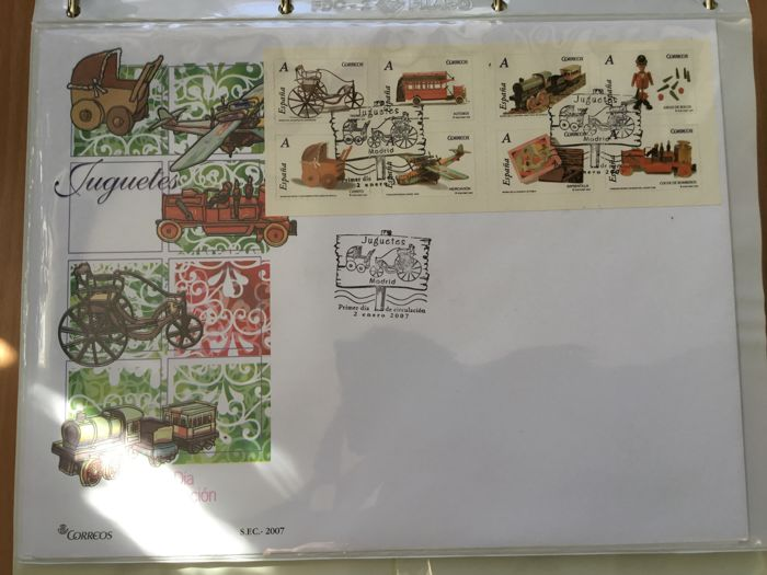 Spain 2007 - Complete collection of First day covers, 2007 - Edifil