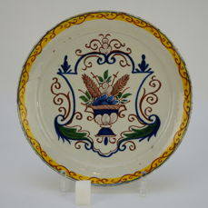Delft earthenware plate 18 th - Earthenware