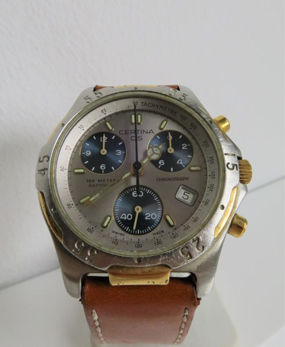 "Certina - DS ""Turtle"" chronograaf  - 541.7011/7111.44 - ""NO RESERVE PRICE"" - Heren - 1990-1999"