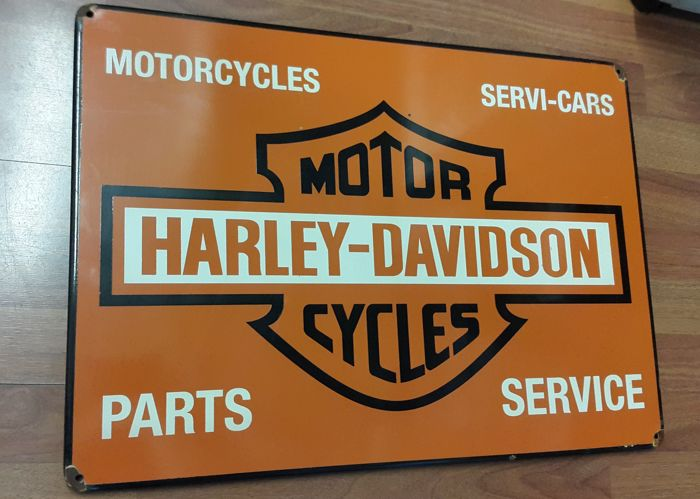 Sign - Motor Harley Davidson Cycles  - 1990 (1 items)