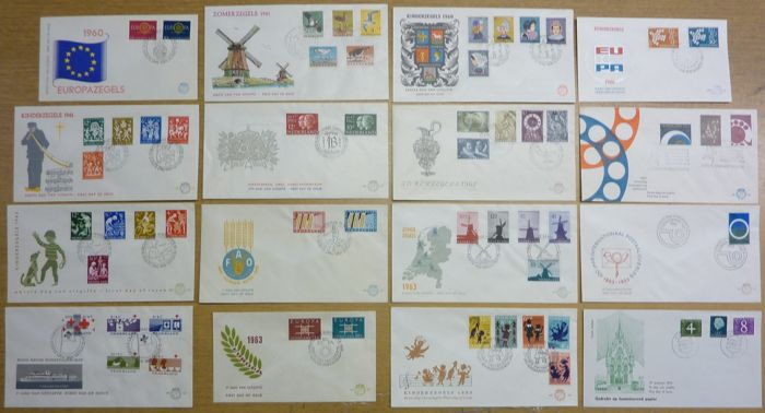 Hollandia 1960/1963 - Selection of FDCs