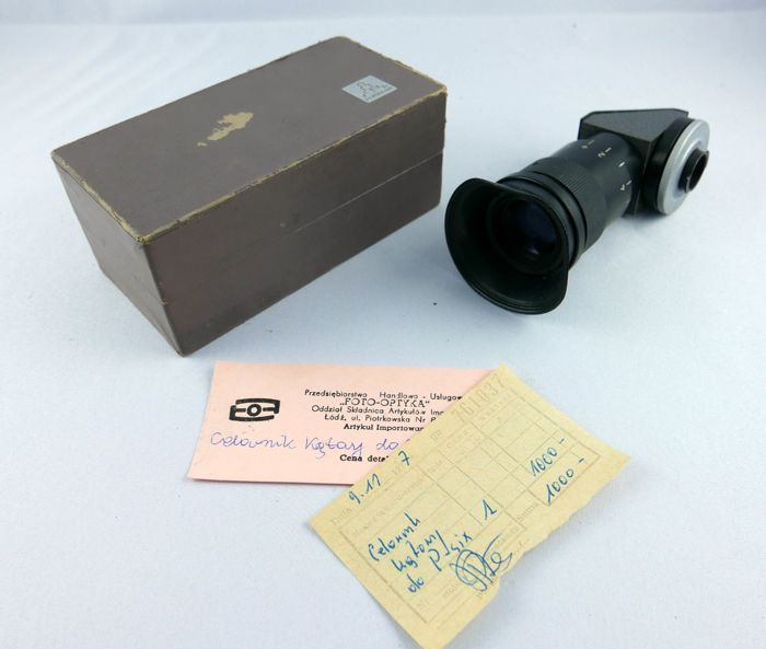 Pentacon ORYGINAL PENTACON  ANGLED VIEWFINDER (pentacon six)  finder with box and documents