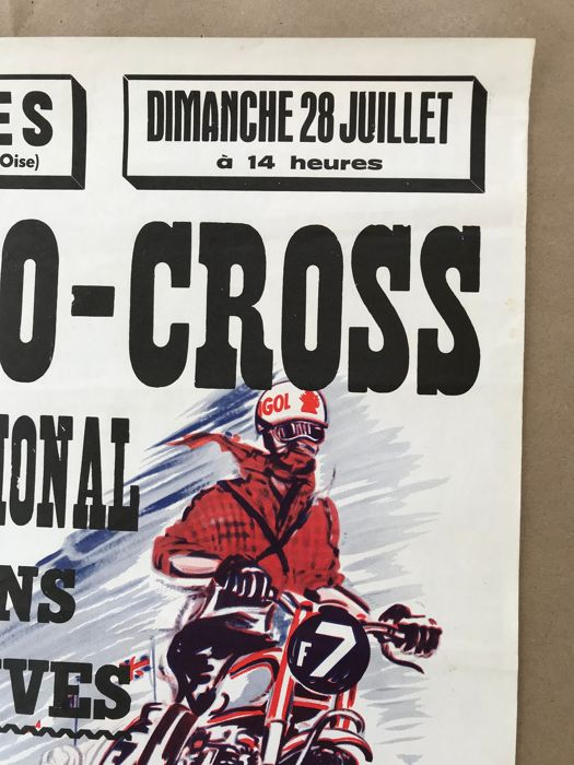 Poster 1962 And 1968 Poster Moto Igol Moto Cross Race In France 1962 1968 2 Items Catawiki