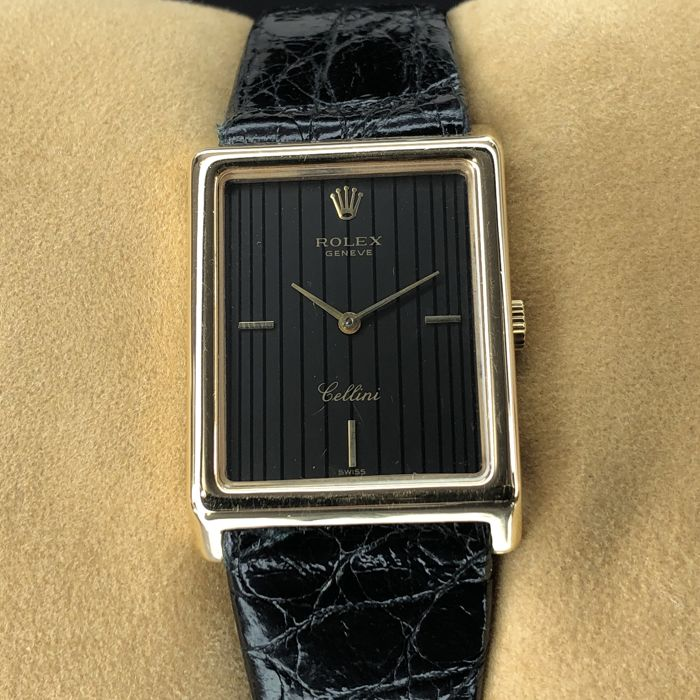 Rolex - Cellini Square Lined Dial - 4105 - Unisex - 1980-1989