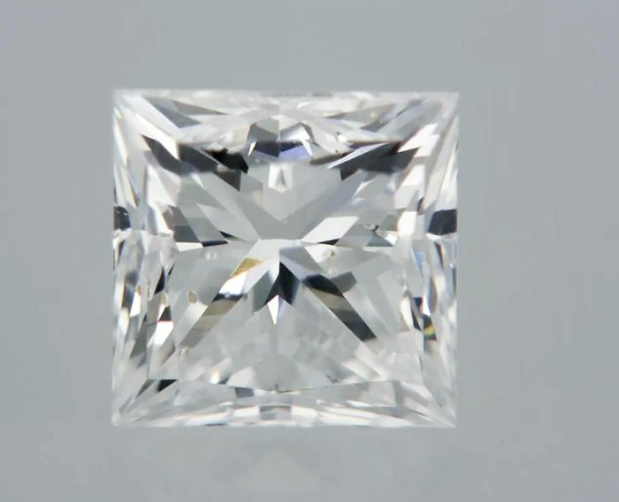 1 pcs Diamante - 0.70 ct - Princesa - D (incoloro) - SI2