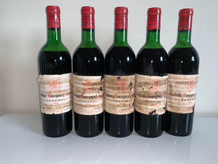 1970 Chateau Bourgneuf Vayron - Pomerol - 5 Bottles (0.75L)