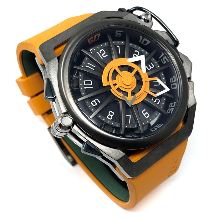 Mazzucato - RIM Reversible Automatic AND Quartz Chronograph Orange GT  - 05-OR5555 - Men - BRAND NEW