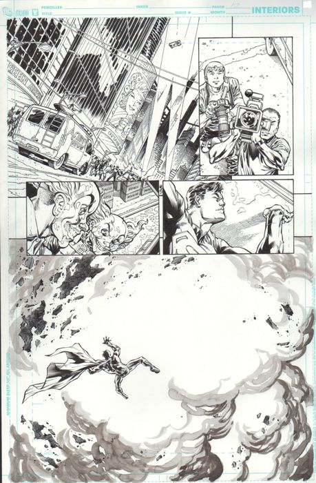 The New 52! - SUPERMAN  #1 - Original page (p.12) - First edition - (2011)
