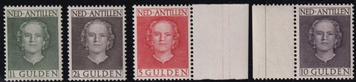 Antilles néerlandaises 1950 - Queen Juliana ´En face´ - NVPH 230/233