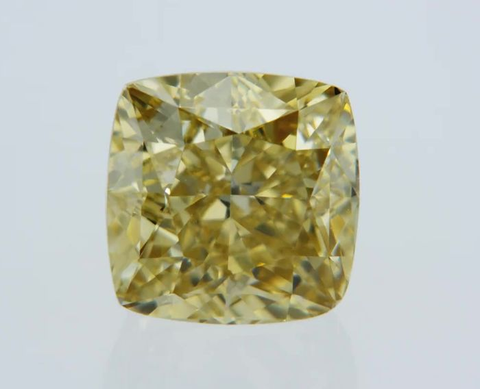 1 pcs Diamante - 1.14 ct - Cojín - fancy brownish yellow - VS1