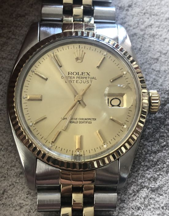 Rolex - Oyster Perpetual Datejust  - Ref.  16013 champagne dial - Heren - 1981