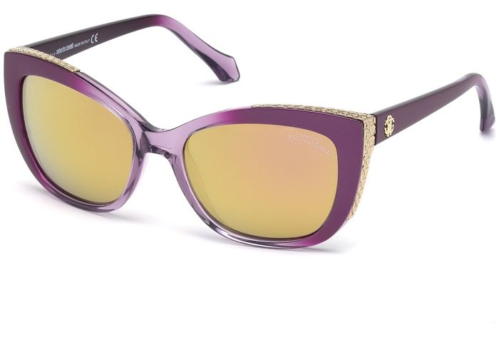 Roberto Cavalli - Exclusive Cat Eye Violet - New - Made in Italy - 2019 Zonnebril