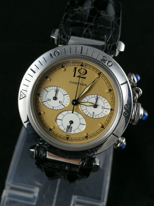 Cartier - Pasha Chronograph - 1050 - Men - 2000-2010