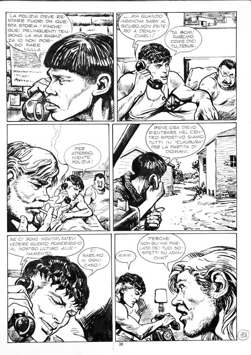 Mister No #224 - Gino Pallotti - 2x original pages - Loose page - First edition - (1993)