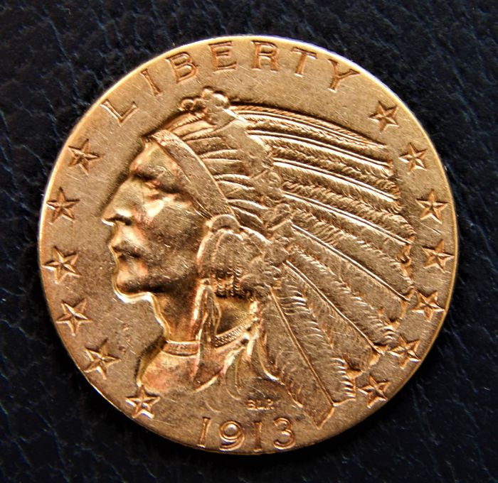 United States - 5 dollars 1913 Indian Head  - Gold