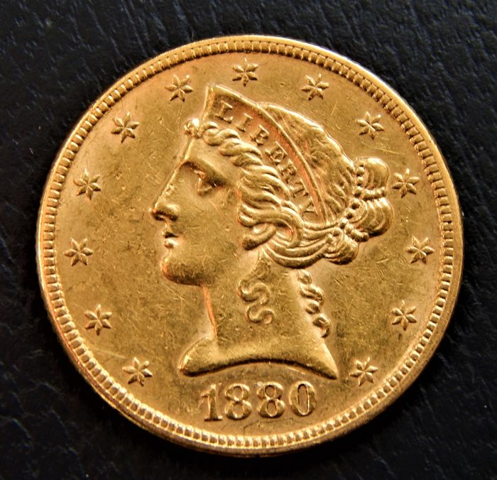 United States - 5 dollars 1880 Coronet Head  - Gold