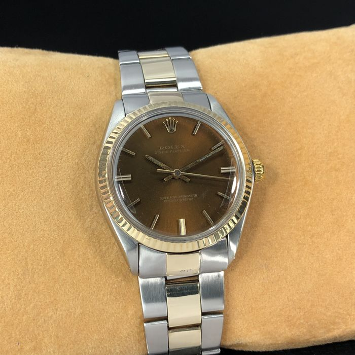 Rolex - Oyster Perpetual Brown Dial Two-Tone - 1007 - Unisex - 1960-1969