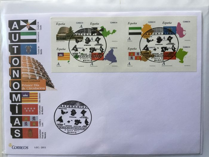 Spain 2011 - Complete collection of First day covers, 2011 - Edifil