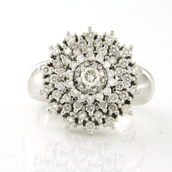 14 quilates Oro blanco - Anillo - 1.50 ct Diamante