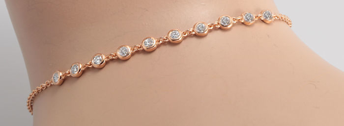 14 kt. Pink gold - Bracelet - 0.50 ct Diamond