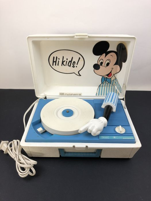 Walt Disney - Portable Record Player Sears - Mickey Mouse (1960s/1970s)