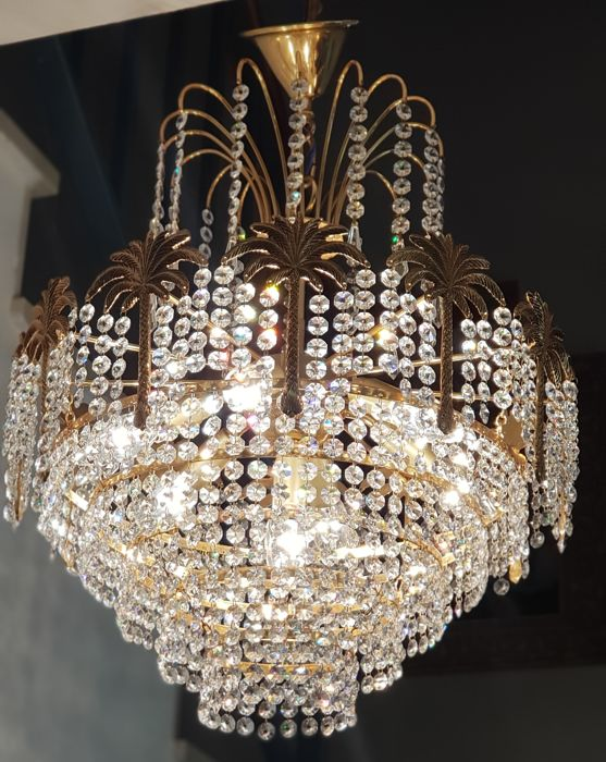 Exclusive Chandelier Lamp with Tears of Crystals (1)