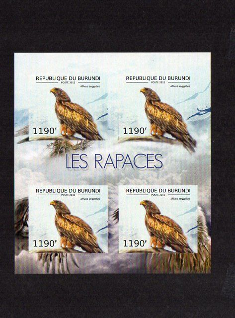 Burundi 2012 - Collection of imperforated minisheets. Fauna