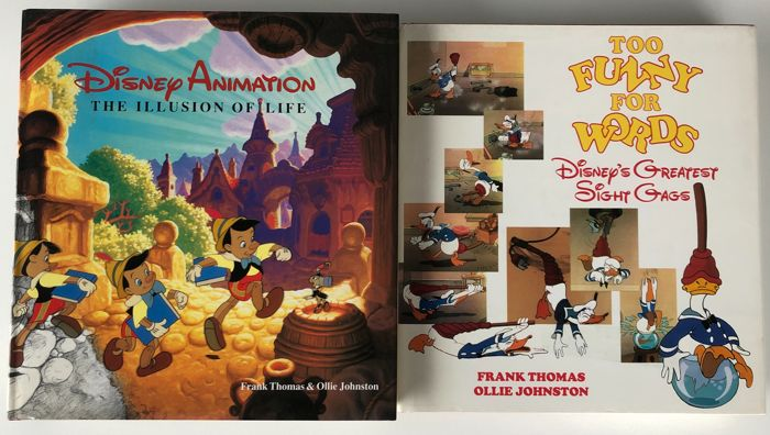 Walt Disney - Disney Animation-The illusion of life & Too funny for words + Disney's greatest sight gags - Hardcover - Gemengde uitgaven - (1981/1987)