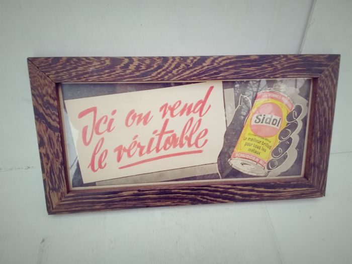 advertising ice on vend le véritable sidol.. (1) - Glass of wood
