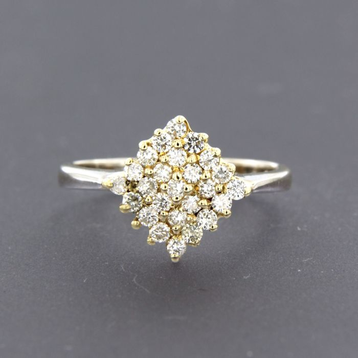 14 quilates Oro amarillo - Anillo - 0.50 ct Diamante