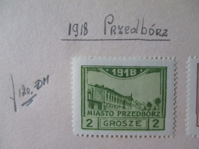 Poland - Starting with classics on loose pages and on cards
