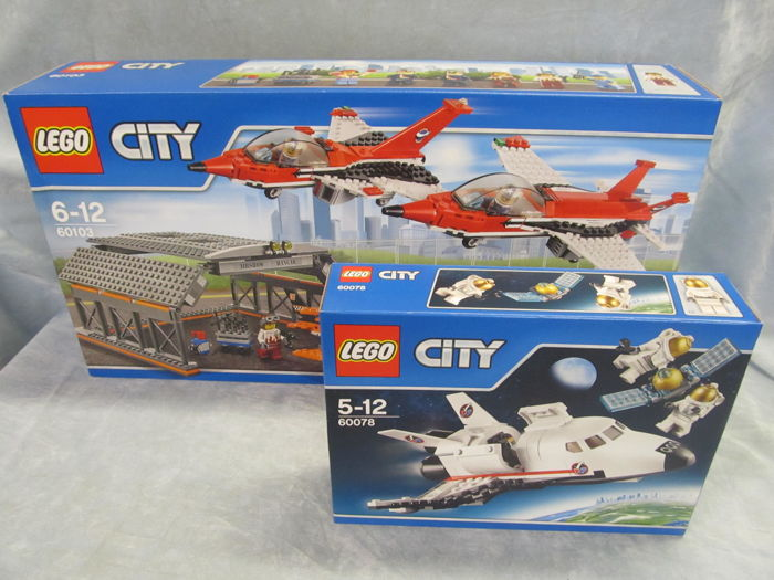 Lego City 60103 60078 Air Display And Space Shuttle Retired In