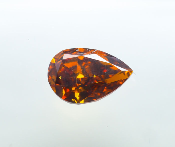 Diamante - 0.73 ct - Fantasía natural DEEP Orange - VS1