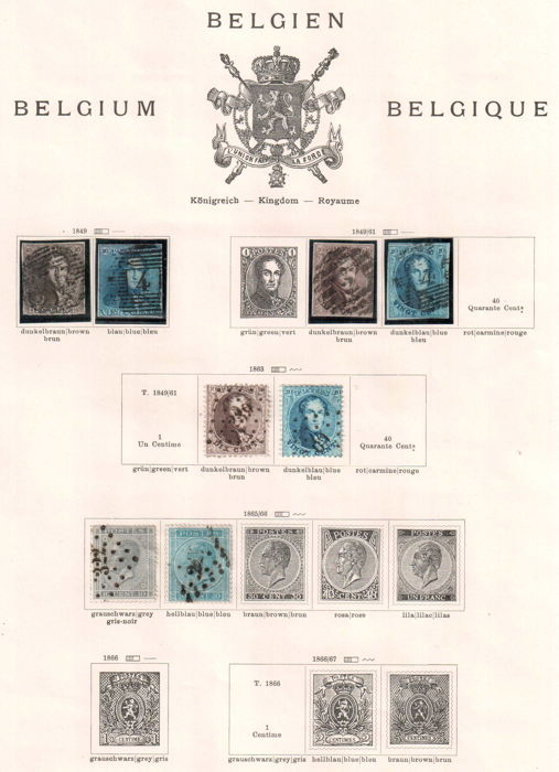 België 1849/1935 - Collection on pages