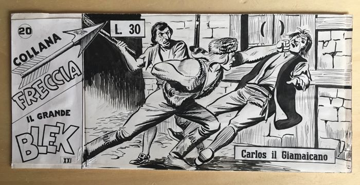 Il Grande Blek XXI s. #20 - EsseGesse - original cover - Loose page - First edition - (1963)