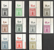 German Empire 1938 - Party official stamps complete with top right margin corners - Michel D 144 - D 154