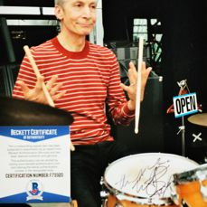 """The Rolling Stones - Autograph Charlie Watts""""The Stones-Drummer over 50 Years""""on the Tour in Mexico City 2016 - Signed memorabilia (original authograph) - 2016/2016"""