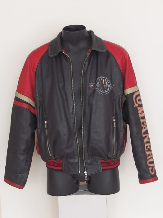 Leather Motorcycle Jacket XL - Compañeros - Motor. Co - 2004