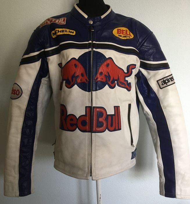 Genuine leather motorcycle jacket Red Bull - Red Bull - 2014 (1 items)