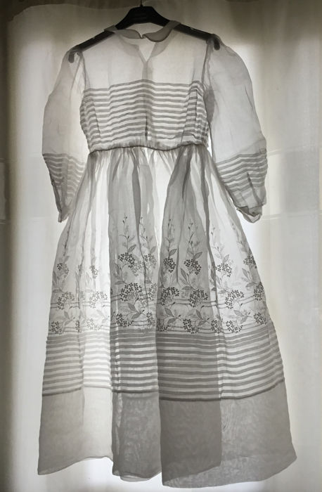 Communion ceremony dress - Cotton, organdy - Second half 19th century