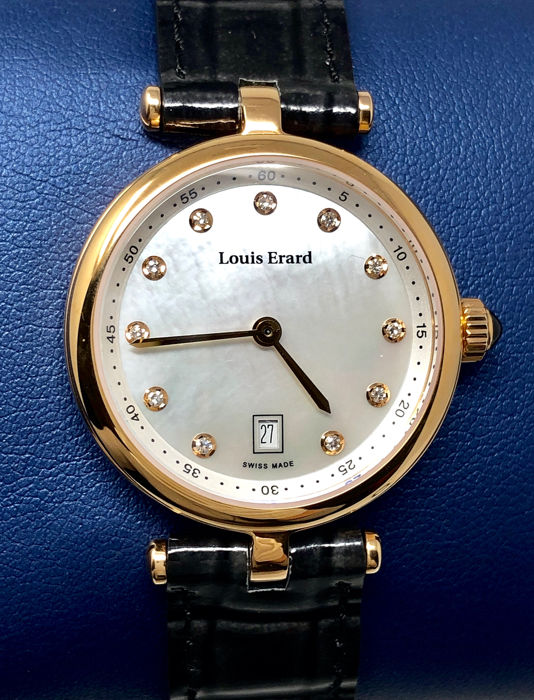 Louis Erard - 11 Diamonds for 0,067 ct. Romance Collection White Mother of Pearl dial Swiss Made  - 10800PR24.BRCA5 - Women - BRAND NEW