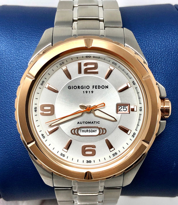 Giorgio Fedon 1919 - Automatic Watch with Day and Date Mechanical Timeless II  - GFBT002 - Homme - Brand New