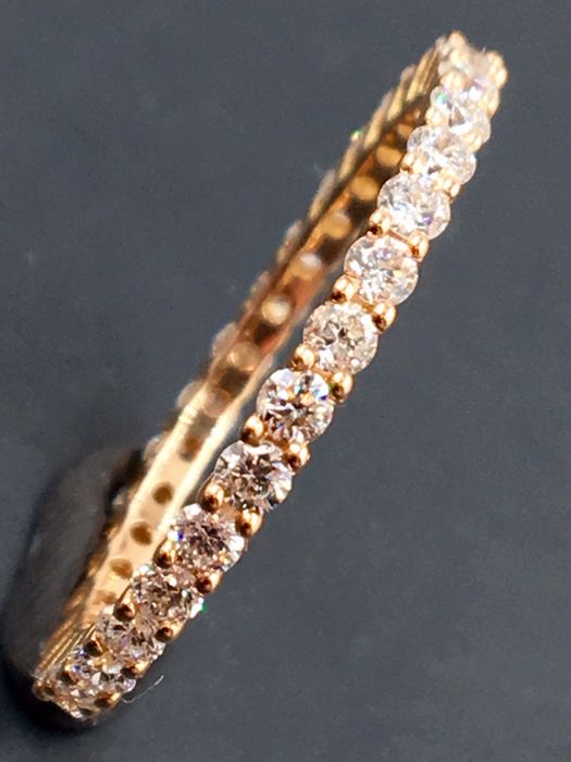 18 kt. Rose gold Eternity ring with 0.96ct diamonds - Without reserve price!