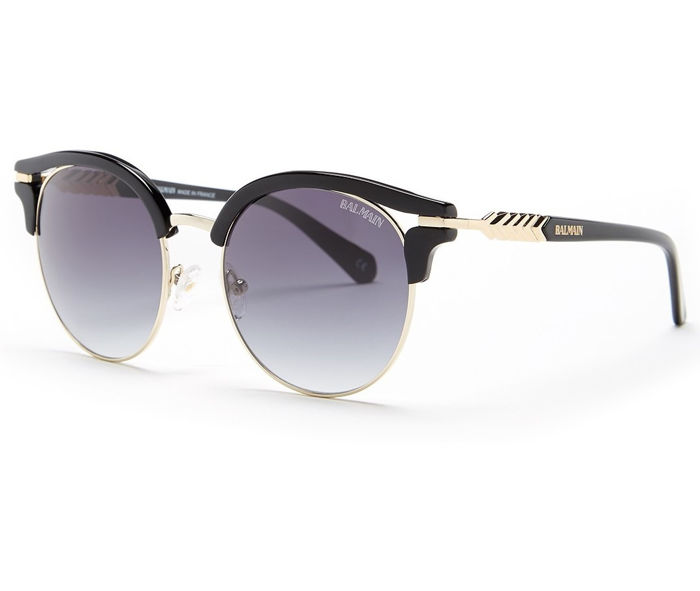 Balmain - Luxury Round Clubmaster Gold Black - New - Made in Italy - 2019 Sunglasses