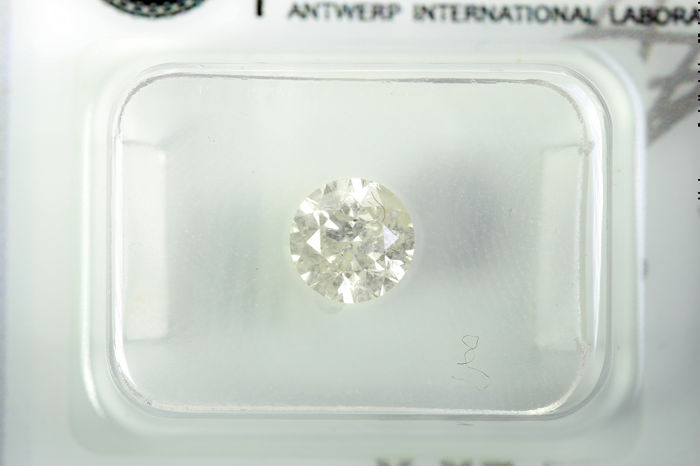 Diamant - 0.85 ct - Brillant - K - I2
