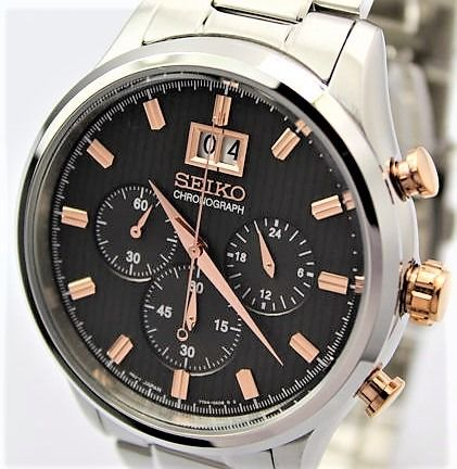 Seiko -  7T04 'NO RESERVE PRICE' Chronograph  - New With Seiko Warranty - Men - 2011-present