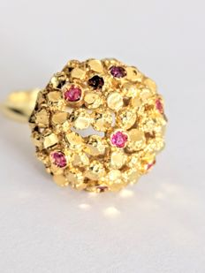 Vintage Cocktail Ruby Ring